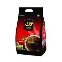 越南进口 中原G7纯黑速溶咖啡 低卡无糖黑咖啡 2g*100条 *4件