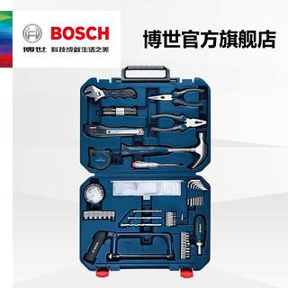 博世家用五金工具箱木工维修多件组套108件套多功能家庭工具套装