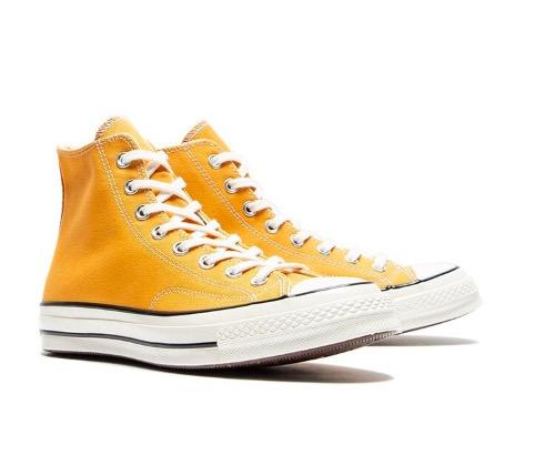 CONVERSE 匡威 中性三星标系带高帮帆布鞋 164944C 黄色 36