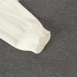 JEANSWEST 真维斯 男士套头圆领针织衫 JW-91-192501 白色 L