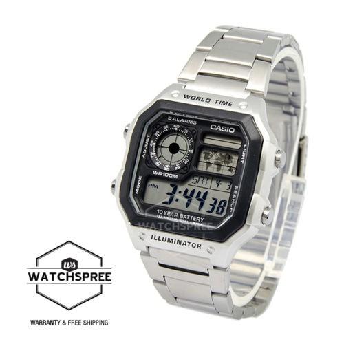 CASIO 卡西欧 AE1200WHD-1A 男款运动腕表