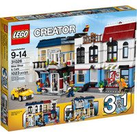 乐高 Lego 31026 创意百变系列 自行车商店与咖啡厅 拼插积木 玩具 9-14岁