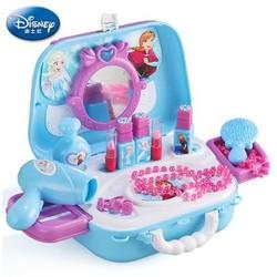 迪士尼女孩玩具过家家化妆台仿真梳妆台 角色扮演冰雪奇缘玩具儿童节礼物Disney背包 *9件