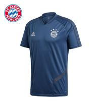 拜仁慕尼黑训练运动衫训练短袖T恤海军蓝阿迪达斯男2019/20赛季