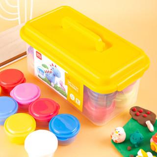 得力(deli)12色轻型黏土 学生橡皮泥 儿童玩具泥 DIY手工制作彩泥材料 67847