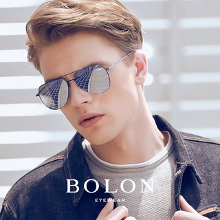 BOLON 暴龙 男士偏光太阳镜 BL8011 D70 电光蓝 暗黑镜面反光