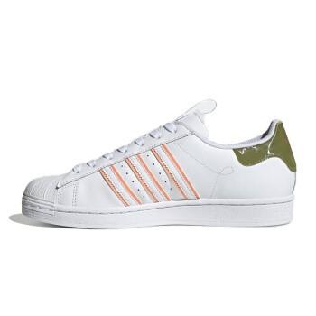 adidas 阿迪达斯 男女运动鞋 FW2857 白色/橄榄绿 36