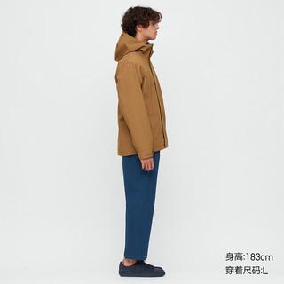 UNIQLO 优衣库 中性连帽登山外套 425033 浅褐色 S