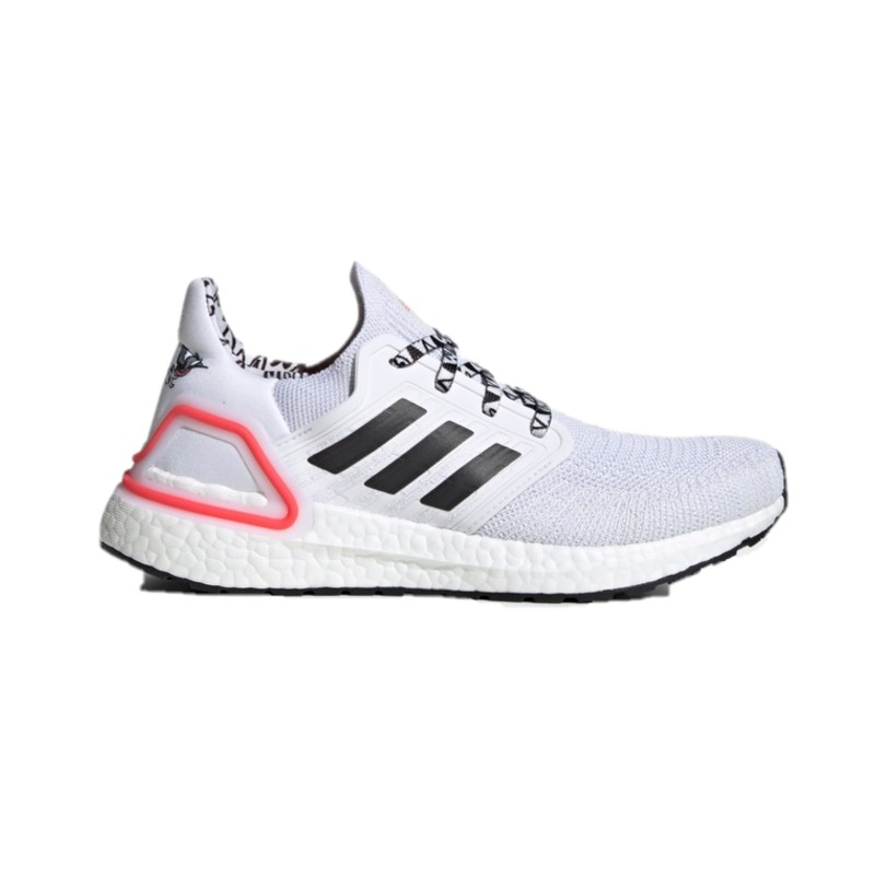adidas 阿迪达斯 ULTRABOOST 20 女士跑鞋 FX9576 白/1号黑/亮粉红荧光 36