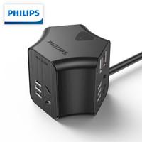 PHILIPS 飞利浦 摩天轮 type-c 双USB插座 (18W快充)