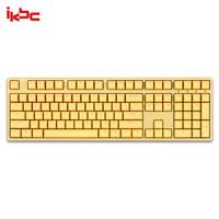 ikbc W210 机械键盘 2.4G无线 游戏键盘 108键 原厂cherry轴 樱桃轴 无线机械键盘 黄色 红轴