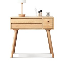 源氏木语纯实木化妆桌橡木北欧梳妆台现代简约小户型卧室化妆台