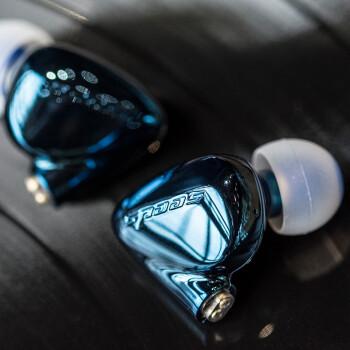 HiBy 海贝瓜子seeds 2入耳式动圈降噪音乐耳机发烧HIFI可换铜镀银线高解析保真耳塞 白金版(蓝色)【双线3.5+4.4mm】