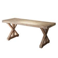 美式loft实木餐桌复古简约现代办公桌工作台电脑桌书桌长条会议桌