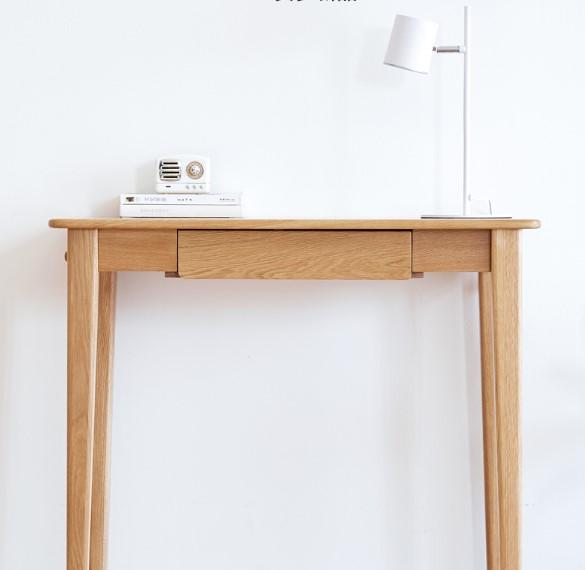 原始原素 贝里系列 F8161 实木单抽书桌 700*480*750mm 原木色