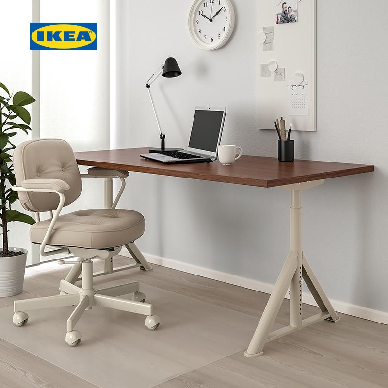 IKEA宜家IDASEN伊朵森书桌北欧职员办公桌简约现代矮桌