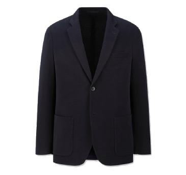 UNIQLO 优衣库 男士平驳领外套西服 419430 黑色 S