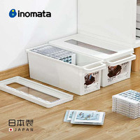 inomata日本进口CD收纳盒塑料ps4游戏光碟相册漫画书整理盒光盘盒