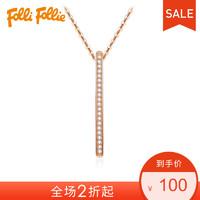 FolliFollie芙丽芙丽简约项链吊坠不含链3P17S005