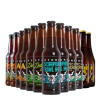 Stone/巨石系列 美国进口精酿 巨石酒厂高分精酿啤酒 巨石啤酒355ml瓶装 混合12支装