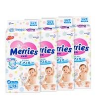 Merries 妙而舒 婴儿纸尿裤 L54片 4包装