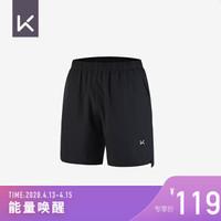 Keep 男子短裤跑步训练透气速干健身裤 男子速干运动短裤(K181AW-064) 黑色 M