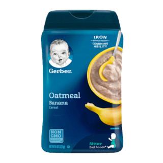 Gerber 嘉宝 米粉系列 婴儿DHA燕麦香蕉米粉 2段 227g(6-36月)