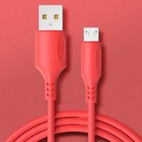 广逸 Micro-USB、Type-C、Lightning 液态软胶数据线 1.2m
