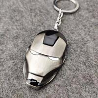枳记家 钢铁侠面具钥匙扣