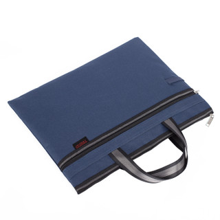 TRNFA 信发 TN-4005 双拉链手提文件袋 蓝色