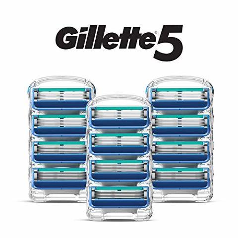 中亚Prime会员、绝对值:Gillette 吉列 锋隐5 剃须刀头 12件装 *2件