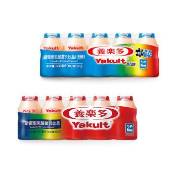 Yakult 养乐多 养乐多活菌型乳酸菌原味 低糖双支套装500ml*/排*2排(新老包装随机发货)