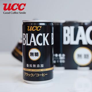 UCC  悠诗诗 无糖黑咖啡饮料 185ml*6罐