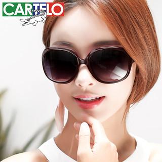 CARTELO 卡帝乐鳄鱼 太阳镜男女偏光防紫外线2021时尚墨镜大脸长脸显瘦防晒