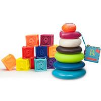 B.Toys 比乐 数字浮雕软积木 捏捏乐+叠叠乐