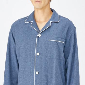 MUJI 无印良品 68AB206 男士法兰绒睡衣