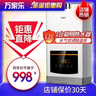 万家乐 D52水气双调随心浴四季恒温随温感家用天然气燃气热水器 JSQ24-D52 天然气