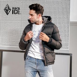 BLACK ICE 黑冰 F8905 男款连帽羽绒服 黑色 L