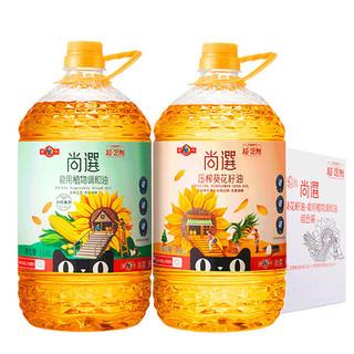 MIGHTY 多力 尚选葵花籽油调和油组合3.68L*2桶物理压榨食用油家用