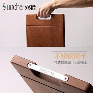 Suncha 双枪 乌檀木整木菜板 方形 3-5人用 40*28*2.5cm