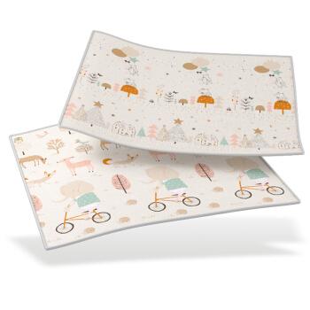 mloong 曼龙 xpe婴儿爬行垫 森林大象+森林小鸟(180*200*2cm)