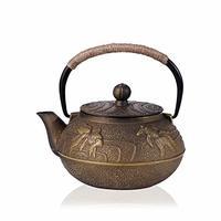 kavar 米良品  无涂层带滤网复古铸铁壶 900ml