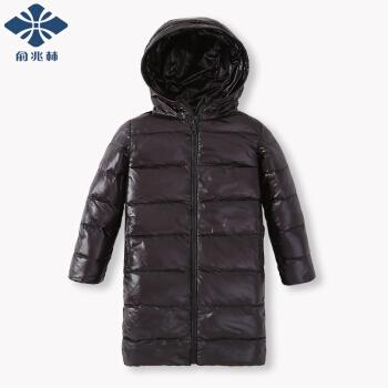 YUZHAOLIN 俞兆林 儿童轻薄中长款羽绒服 黑色 120CM