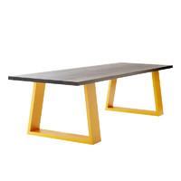 微观世界 wgsjczysc8-10 长方形实木铁艺餐桌 50*50*75cm 厚5cm