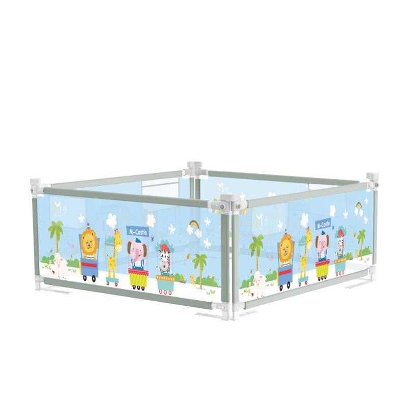 M-CASTLE MC-402-1 婴儿防摔床围栏 冰绿色 2.0米(单面)