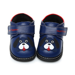 Hush Puppies 暇步士 婴幼童羊皮短绒学步鞋 DP9165 深蓝色 12.5