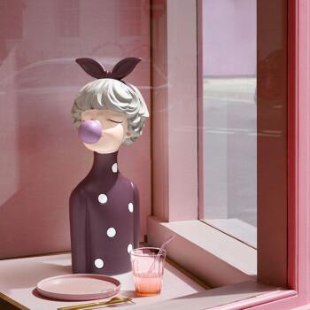 BEST WEST 创意摆件 泡泡女孩-梦之蝴蝶结-紫衣