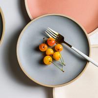 肆月池月 盘子ins风 北欧家用陶瓷西餐牛排盘子意面盘菜盘平盘