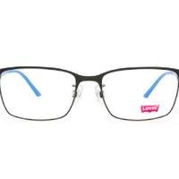 Levi's 李维斯 男士超轻合金方形套镜 LS05223 黑框蓝腿 镜框+1.60非球面镜片