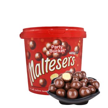 澳洲原裝進口 麥提莎Maltesers麥麗素麥芽脆心牛奶巧克力豆465g 桶裝休閑零食禮盒